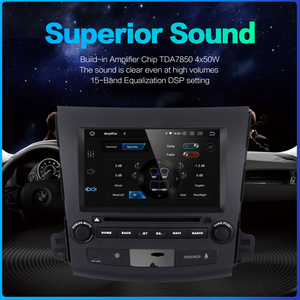 "Image 5 - Dasaita 2 Din 8"" Android 10.0 For Mitsubishi Outlander Peugeot 4007 Citroen C Cross 2007 2008 2009 2010 2011 Car DVD Audio 1080P"