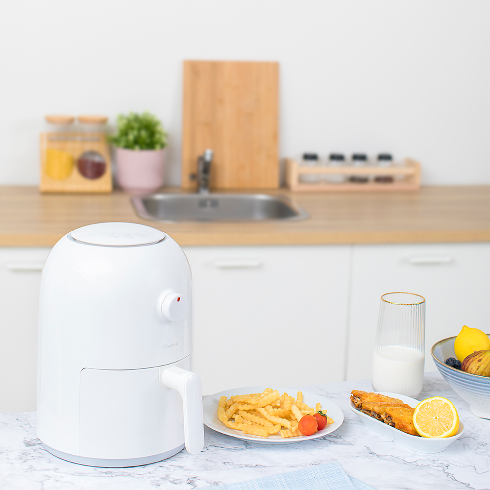 Xiaomi Mijia 2L 800W Onemoon Air Fryer Household Intelligent No Fumes High Capacity Electric Fryer French