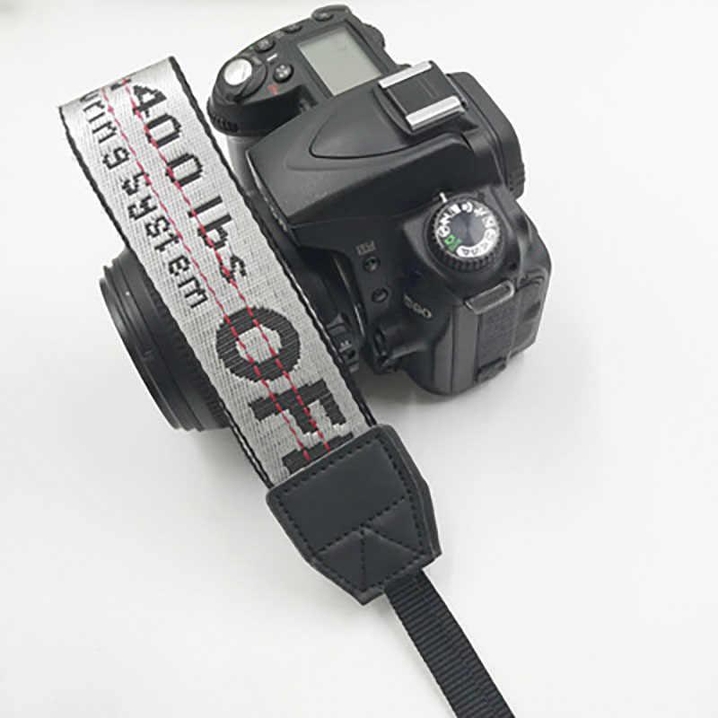 SLR شريط كاميرا أوف وايت النيوبرين الرقبة حزام لكانون نيكون بنتاكس سوني فوجي أوليمبوس الملونة أوف وايت كاميرا حزام Blet