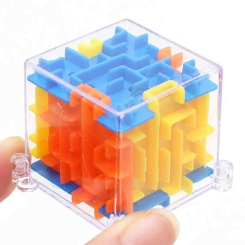 3D Cube Puzzle Labirin Mainan Tangan Permainan Case Kotak Otak Menyenangkan Tantangan Permainan Mainan Keseimbangan Mainan Pendidikan untuk Anak-anak Natal hadiah