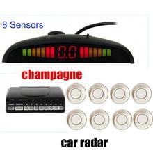 22.5 millimetri 12 V per tutte le auto Automobile HA CONDOTTO Kit Sensore di Parcheggio di Inverso Assistenza Radar Monitor di Sistema di allarme alert BEBE forte 8 Sensori