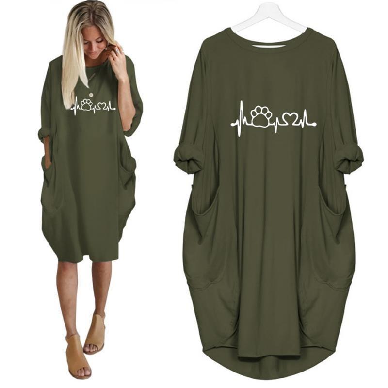 2019 New Fashion shirts Dog Cat Heart Print Tops Plus Size Tshirt Funny clothing  Kyliejenner Rock tshirt women plus size