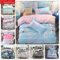 Blue Pink AB Double Side Duvet Cover Bedding Set Adult Couple Kids Soft Cotton Fabric Bed Linen Single Twin Full Queen King Size
