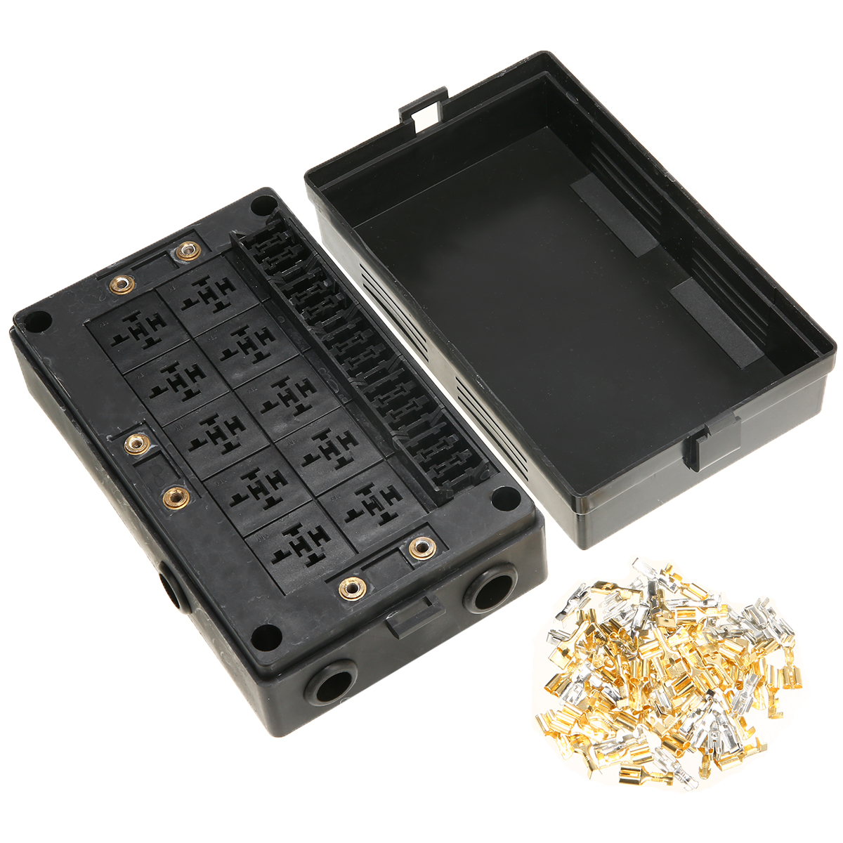 18 Way Fuse Relay Box Holder Block Circuit Protector Terminals Car Auto Standard Fuses Holder Replacement