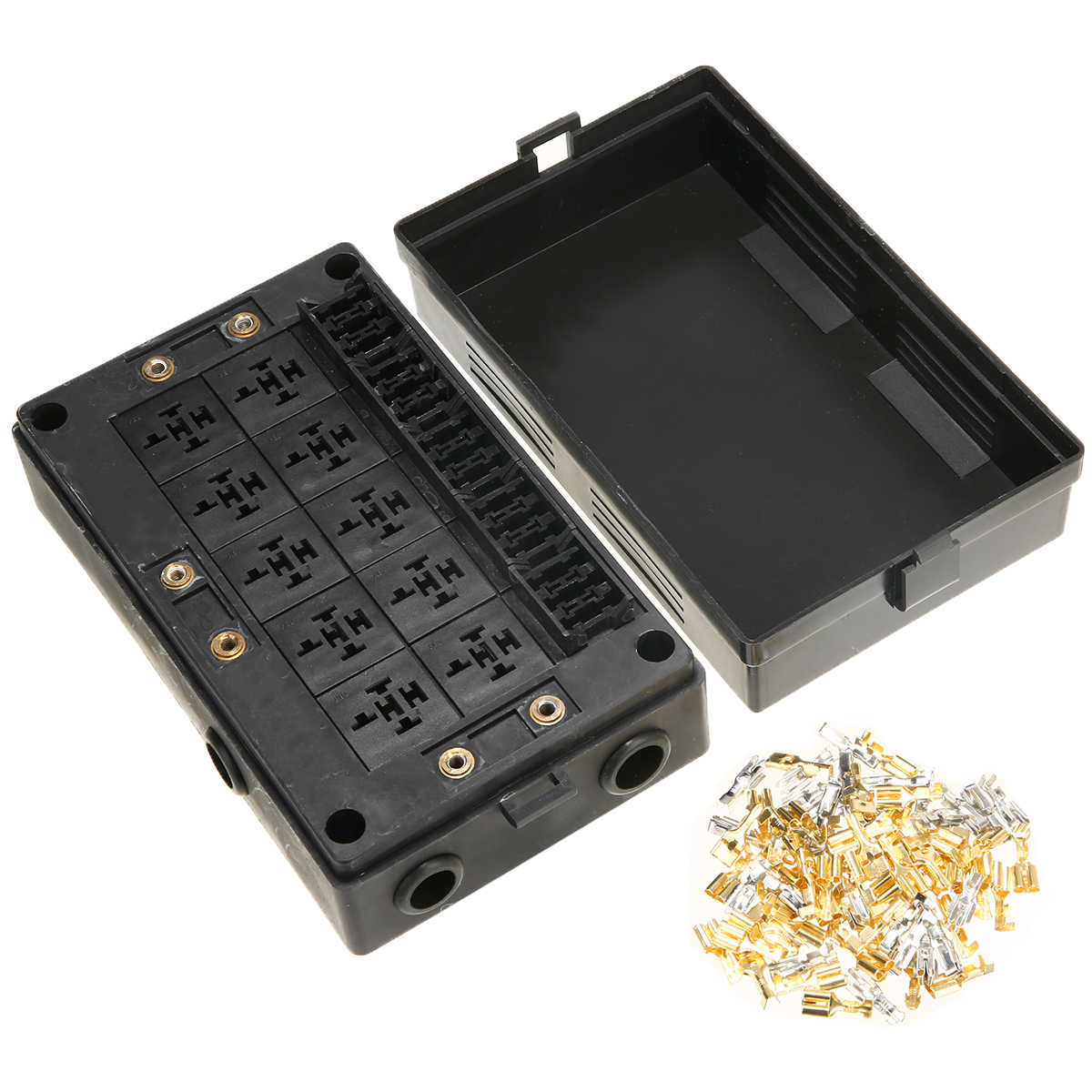medium resolution of 18 way fuse relay box holder block circuit protector terminals car auto standard fuses holder replacement