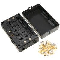 18 Manier Zekering Relais Box Holder Blok Circuit Protector Terminals Auto Auto Standaard Zekeringen Houder Vervanging Deel