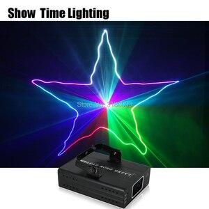 Image 1 - להראות זמן בית המפלגה DJ לייזר מקרן סורק קו לייזר DMX RGB שלב אפקט תאורת עבור דיסקו המפלגה חג המולד 1 חור לייזר להראות