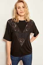 Trendyol Black Lace Stripe Knit Tops TOFSS19NN0004()
