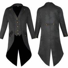 Взрослый мужской панк ретро костюм смокинг костюм модный длинный Тренч красный черный фиолетовый костюмы мужские вечерние куртки
