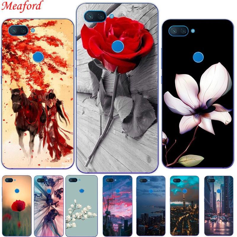 Mi 8 Lite Cover For Xiaomi Mi 8 Lite Case cartoon floral Painting Soft Silicone Case For Xiaomi Mi 8 Lite Mi 8X Case TPU Cover