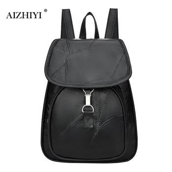 9ba1d95a5bb1 Повседневный женский рюкзак подростковый консервативный стиль кожаный  рюкзак большой емкости Мультифункциональный Школьный рюкзак на пл.
