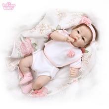 Logeo Baby Reborn Doll 19 Silicone Newborn Bebes Dolls Dollhouse Toys Birthday gift lovely lol