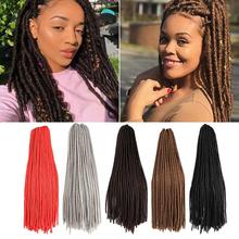 Hot Selling 20inch Colorful Wig Head Soft Hair Synthetic Braiding Wig Crochet Synthetic Lace Front Braids Wigs For Women