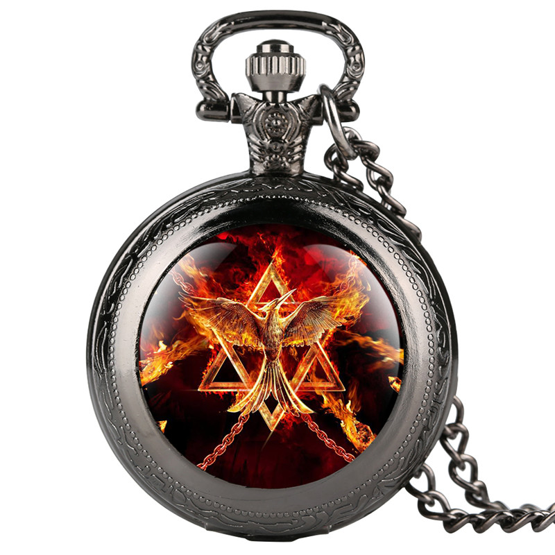 Fobs Fashion Mens Pocket Watch Eagle Printing Pattern Pocket Watches For Boy Analog Quartz Pendant Gift For Pocket Watch