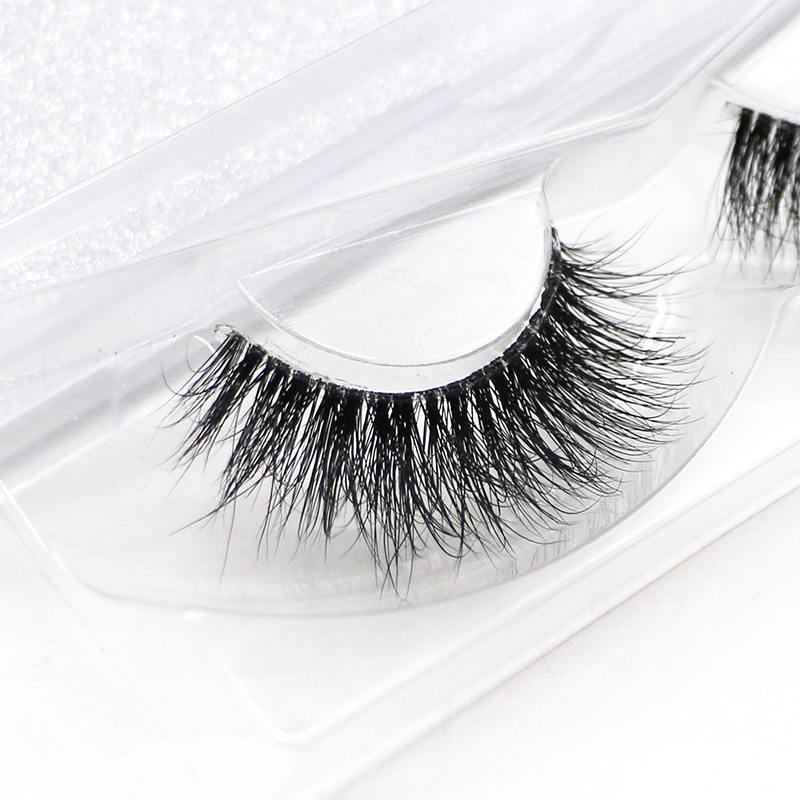 Ah11t New Fashion Transparent Plastic Natural Individual False Eyelashes Long 3d Mink Eyelashes Makeup Tool
