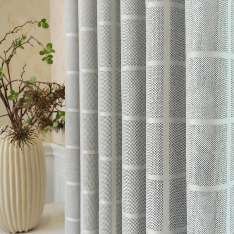 Popangel 2019 New Plain Pattern Gray Blackout Living Room Window Curtains Be Customized Fashion Luxury Pink Office Curtains