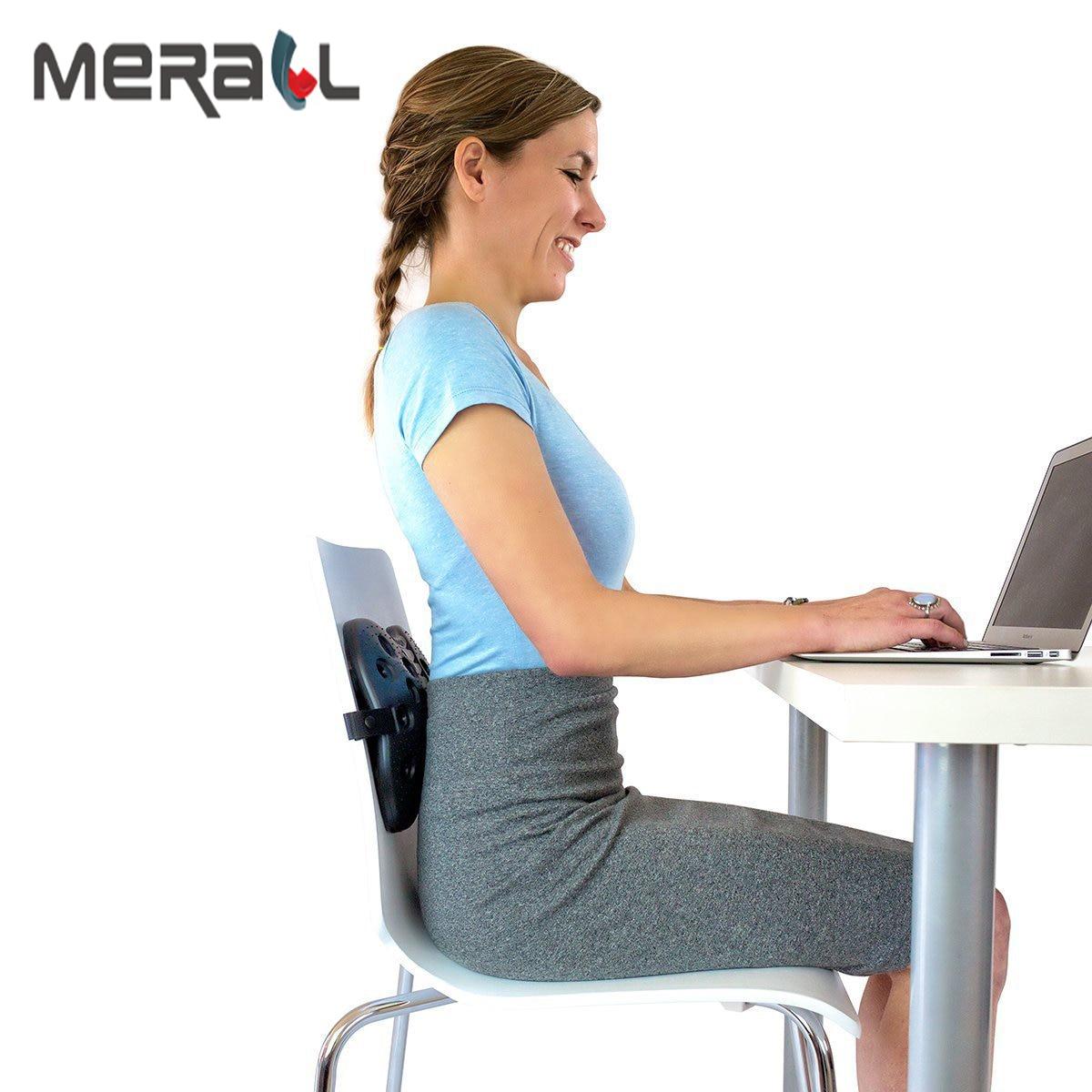 Merall Posture correcteur dos soutien ergonomique taille dossier par bureau et voiture bon compagnon aide soulagement mal de dos soins de santé