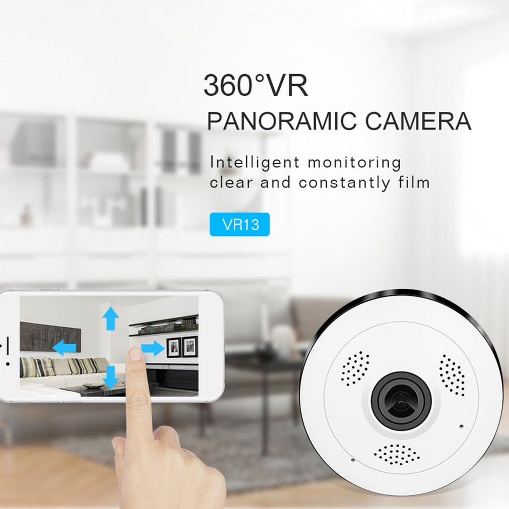 Professional 360 Degree VR Panorama Camera Fish-eye Lens IP Camera HD 960P Network Wireless WIFI Video Recording Intercom Camera цена и фото