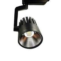 10pcs/Lot 30W COB LED Rail Track light Spotlight Bulb Lamp Black body Warm 3500K Natural White 4000K 6500K for Mall Exhibition