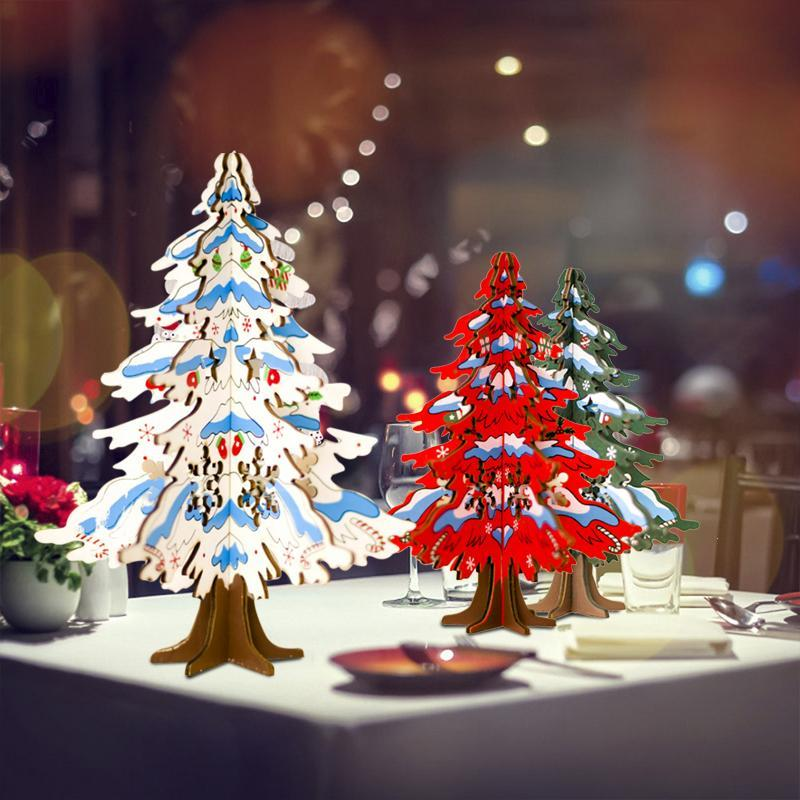 22cm 17cm Wooden Christmas Tree Christmas Decorations For