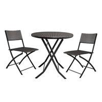 3 יח'\סט מתקפל ריהוט שיפוע גן קש קפה שולחן + 2 pcs כיסאות Househoud עיצוב הבית בית גן שולחן סט-בסטים לסלון מתוך ריהוט באתר