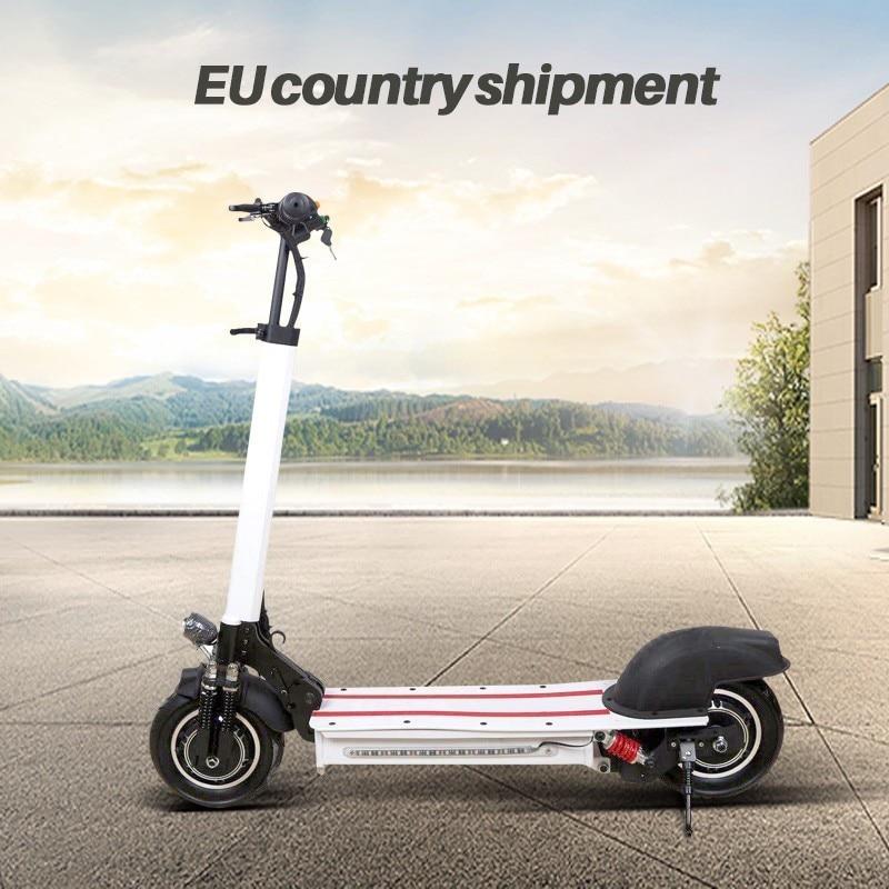 10-polegada Off Road Scooter Elétrico Adulto bicicleta 48 V novo Estilo poderoso do motor Duplo Dobrável bicicleta e-