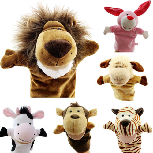 Cute Baby Animals Hand Puppet Plush Doll Story Telling Educational Toy Christmas Toy
