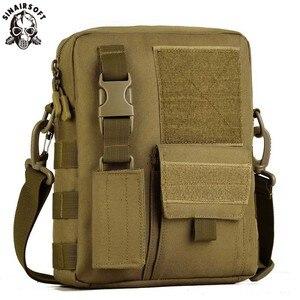 Image 1 - Sac à dos tactique pour hommes, sacoche militaire Camo imperméable pour Sports de plein air voyage, sac à main sec de chasse