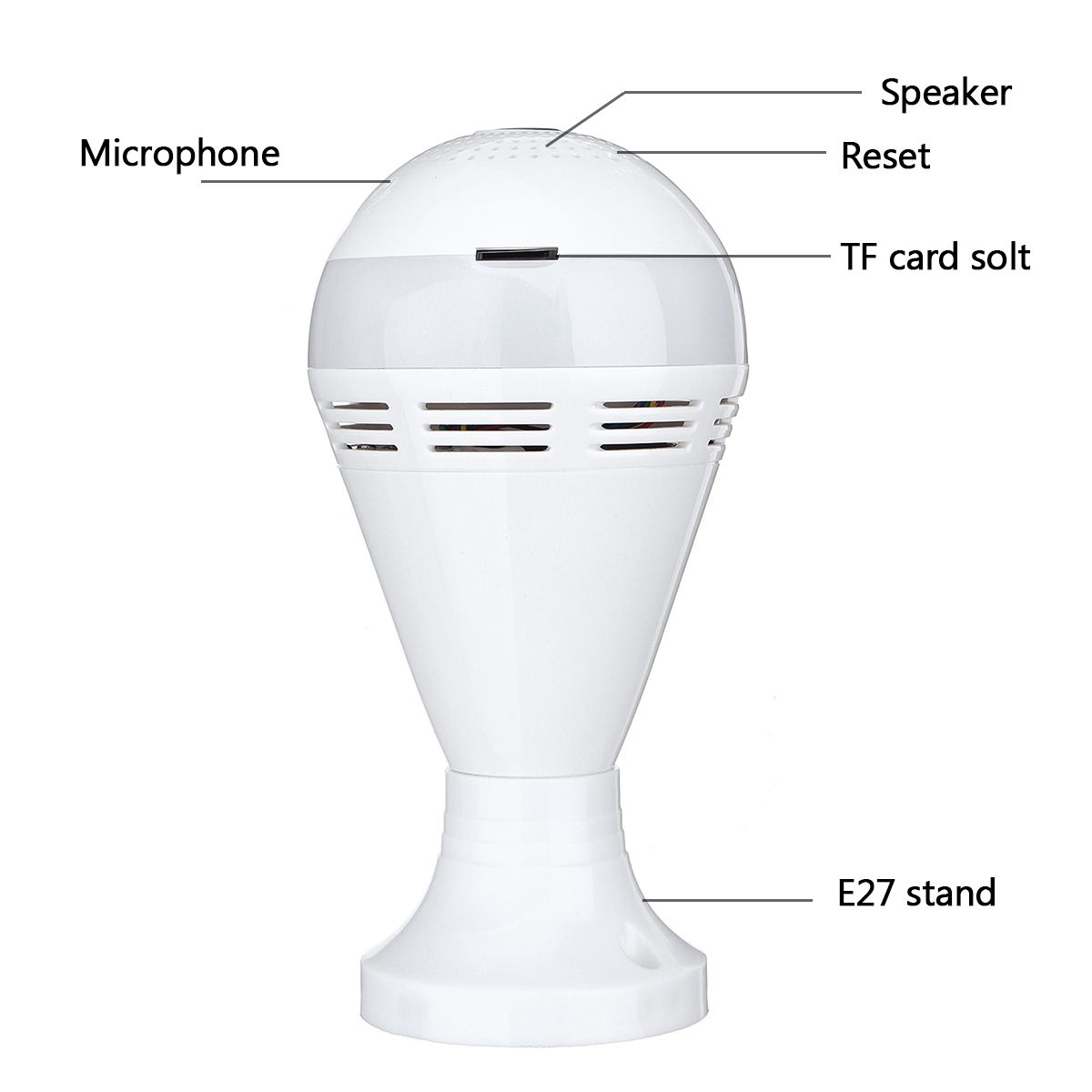 Image 5 - E27 Wireless bluetooth Speaker Bulb Music Playing Dimmable LED Lamp Light Bulb IP Camera Wifi FishEye CCTV Home Security Camera-in LED Bulbs & Tubes from Lights & Lighting
