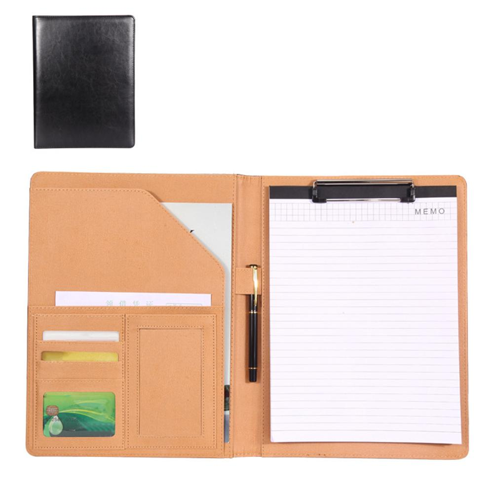 Business A4 PU Cards File Folder Organizer Faux Leather Stationery Office Supplies