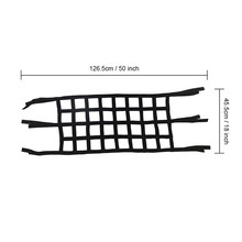 Black Cargo Roof Net Back Window Extra Storage Restraint For Jeep Wrangler TJ Jk(China)
