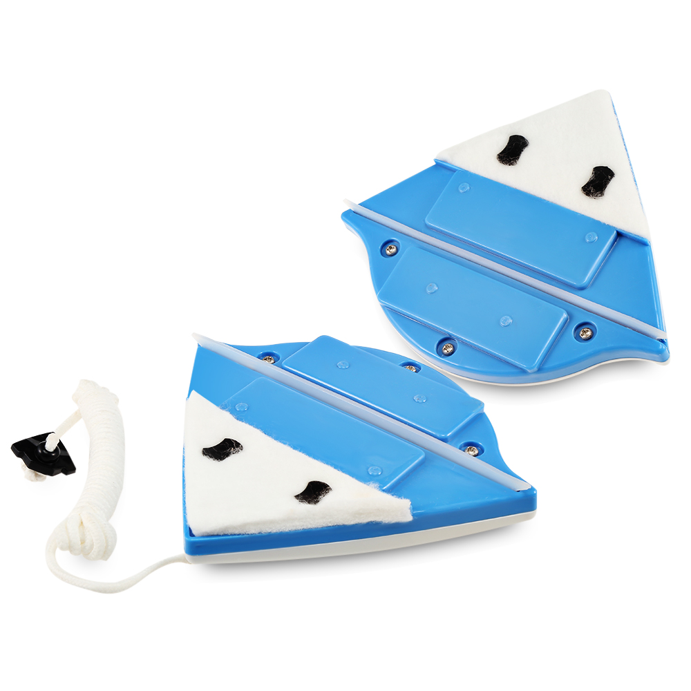 household double sided magnetic glass wipe brush and glass cleaner for washing windows