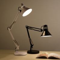 DX Modern Led Desk Lamp Nordic Lighting Bedroom Study Reading Light Design Simple Flexible Office Book Lamps Black Lusters