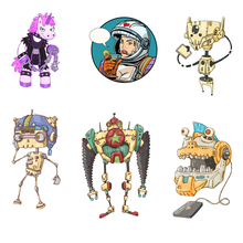 Alien Unicorn Iron on Patches Clothing Applications Transfer Fusible  Sticker Decor Stranger Things Diy T-shirt Print E