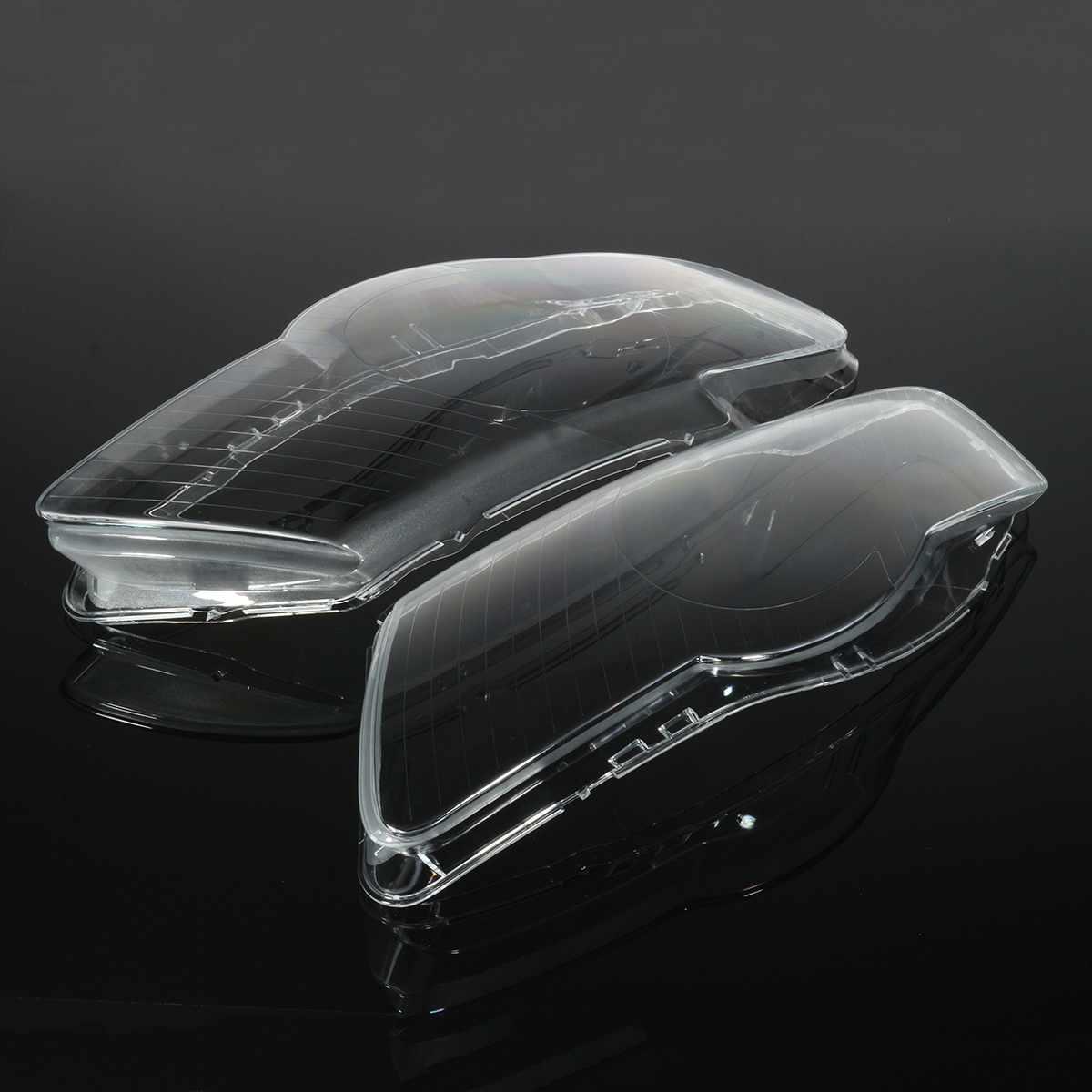 1 paire de phare de voiture phare étanche brillant couvercle clair lentille lampe capots pour Volkswagen pour VW Passat Magotan B6 R36