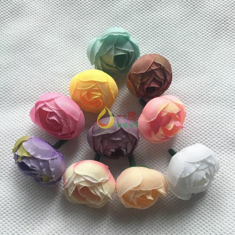 Camélia de seda bud retro-estilo Europeu rose bud caixa de presente caixa de doces de casamento flor coroa de flores decoração com flores