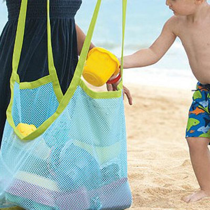 1 Pc Kids Baby Sand Away Carry Beach Toys Pouch Tote Mesh Large Children Storage Toy Collection Sand Away Beach Mesh Tool vacation