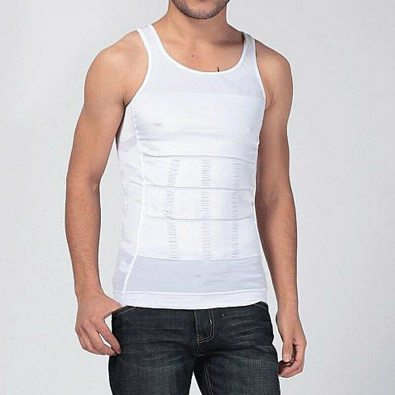 Ultra Lift Body Slimming Shaper For Men Chest Compression Shaper Vest Top Black White Body Shapers Mens shapewear bodysuit men