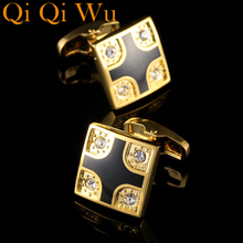 2017 New Arrive Luxury Shirt Cuff link for Mens Gifts Unique Wedding Gold Cufflinks For Business Gift Suit Sleeve Buttons