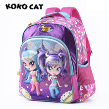 Girls primary school Trolley Backpack with Wheels Suitcase Luggage Suitcase for kids Children Rolling Travel Wheeled Bag стоимость
