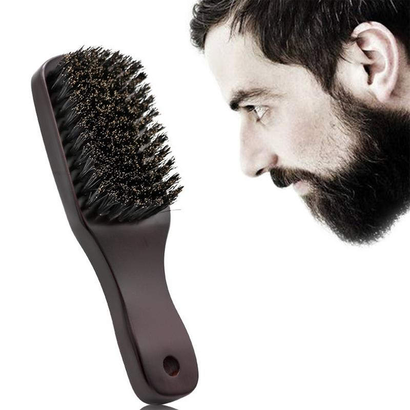 Men Hair Beard Brush (Soft Bristles) | 100% Boar Bristle Works With All Beard Balms & Oils