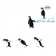 Promotion! DIY Lovely Penguin Art Vinyl Decal Removable Wall Sticker Mural Home Decor Children Bedroom Decoration (60*90cm)(China)