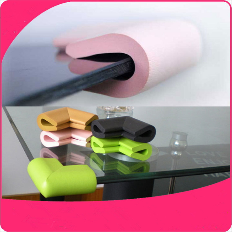 4pc/lot U Shape Corner Protector Baby Safety Soft Edge Guards Infant Glass Table Edge & Corner Guards With 3M  Sticker