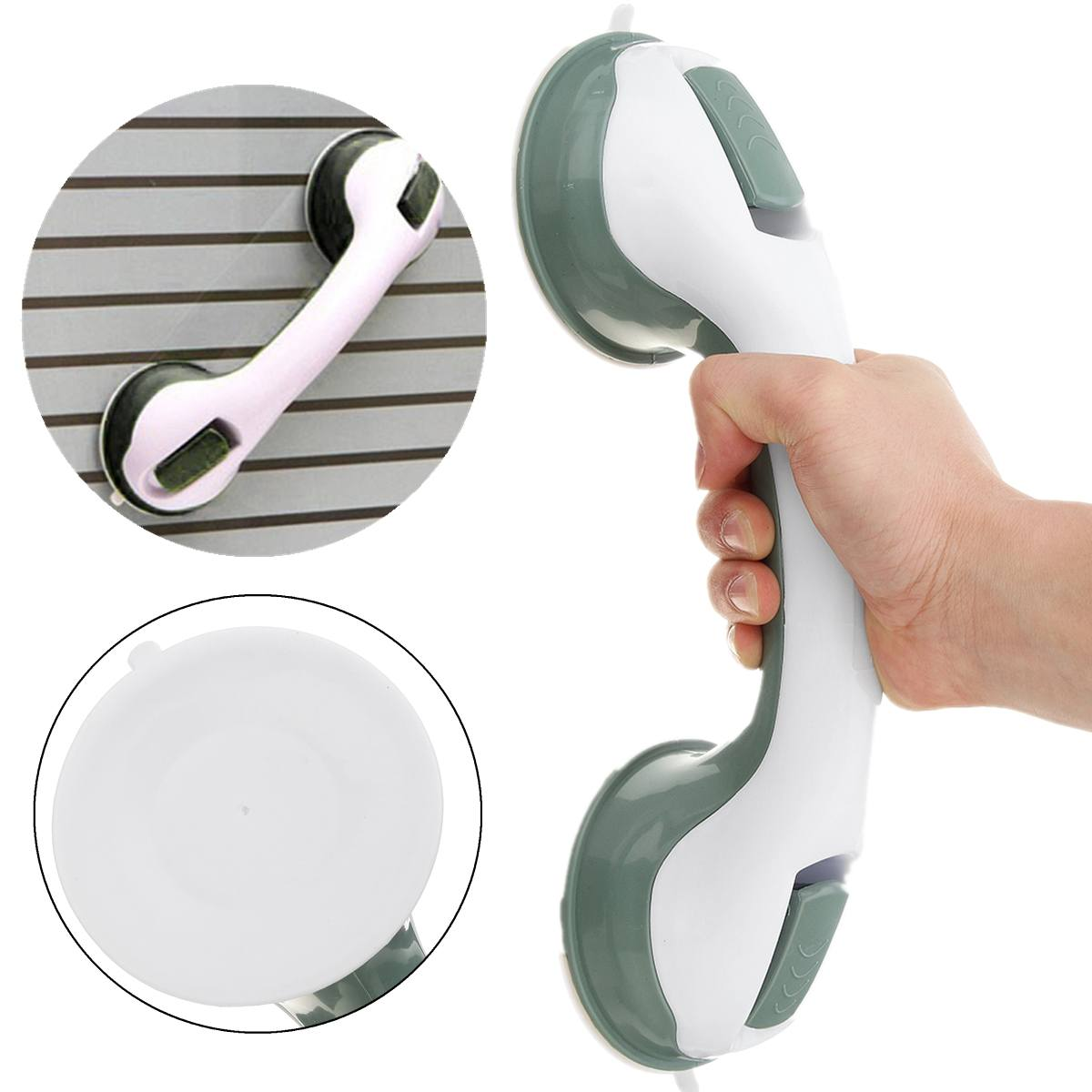 1PC Bathroom Suction Cup Handle Grab Bar For Elderly Safety Toilet Bath Shower Tub Bathroom Shower Grab Handle Rail Grip