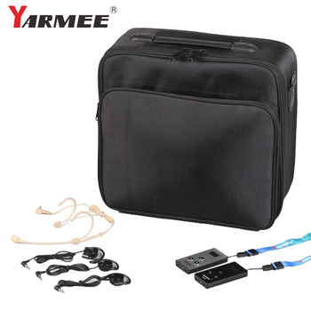 Portable Set Tour Guide System,  2 Transmitters With Microphones , 30 Receivers With Earphones With Carry Case  YARMEE YT200