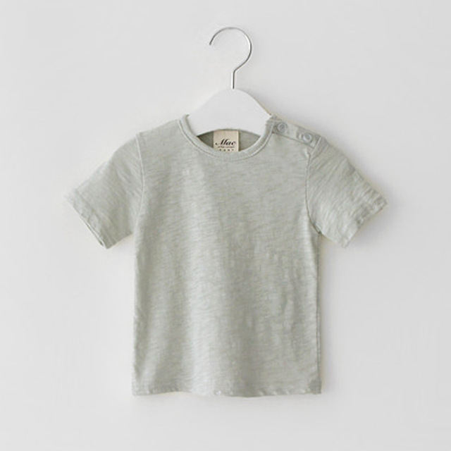 Short sleeve cotton linen shirt for boys