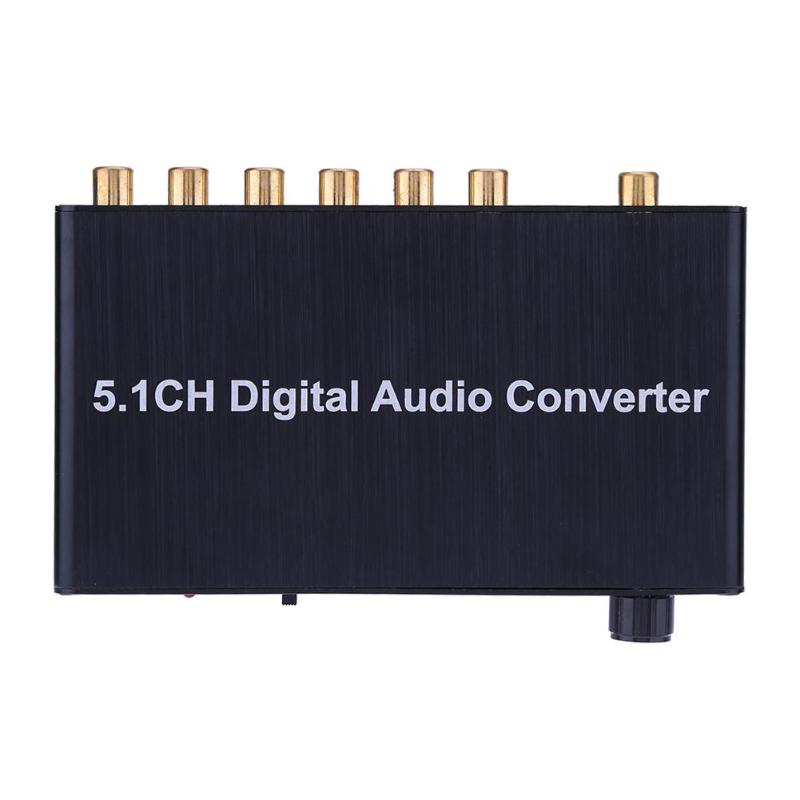 5.1 Decoder DTS /AC3 Dolby Coaxial SPDIF Input to 5.1 CH Digital Audio Converter for Network Player HDTV DVD with EU/US Plug 5 1 audio gear digital sound decoder converter support dolby dts optical to 3rca with usb port for charging for dvd xbox360