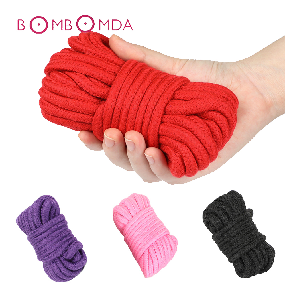 BDSM Bondage Soft Cotton Rope Flirting <font><b>Sex</b></font> <font><b>Toys</b></font> <font><b>for</b></font> <font><b>Couples</b></font> Roleplay Slave SM Bondage Rope Restraint <font><b>Adult</b></font> <font><b>Game</b></font> 5 10 Meters image