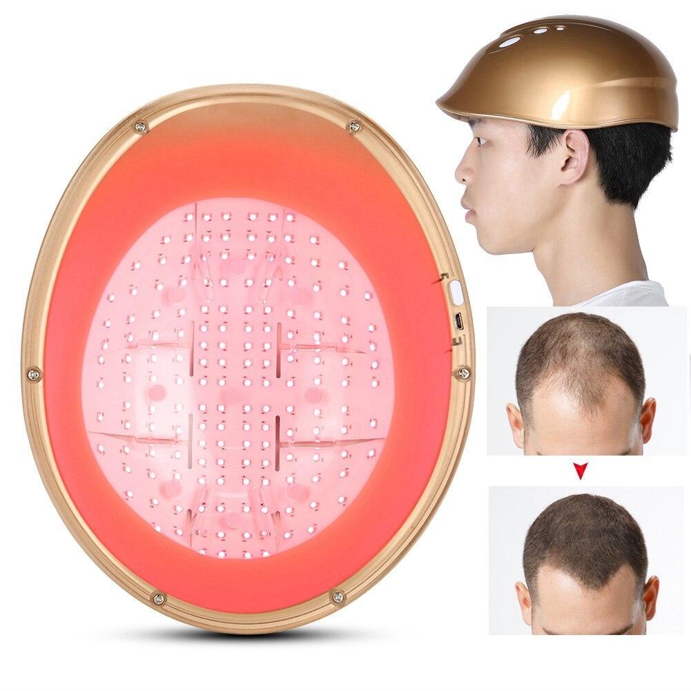 LLLT 160 diodos crecimiento del cabello casco de crecimiento de cabello con láser reducir el gorro para la caída del pelo tratamiento del cabello pelo rápido recrecimiento láser Cap casco - 3