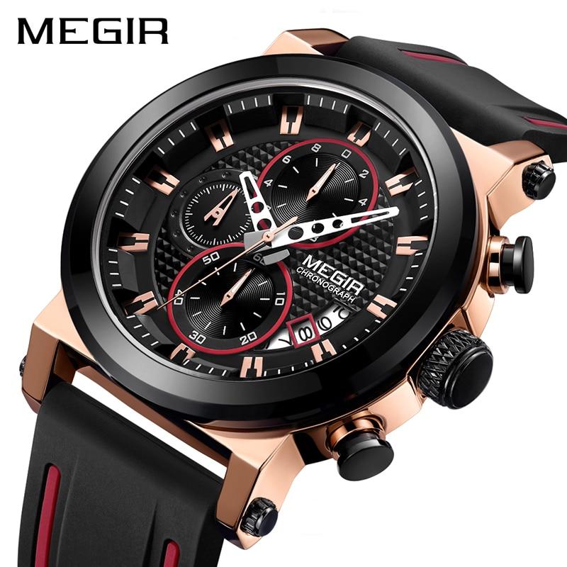 Detail Feedback Questions about MEGIR Luxury Brand Quartz Watch for Men Big  Dial Sport Men Watches Chronograph Wrist Watch Man Kol Saat Jam Tangan Pria  ... 5db915724f
